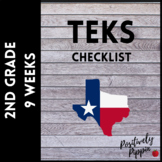2nd Grade TEKS Checklist (9 Weeks Checks)