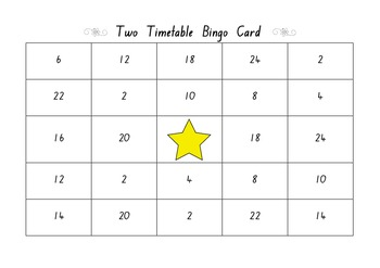 2x Bingo Cards