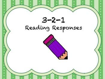 3-2-1 Reading Response Graphic Organizers