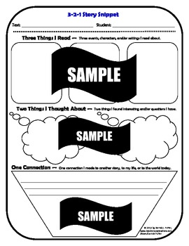 Fiction and Non-Fiction Reading Strategies: 3-2-1 Snippets