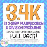 3.4K: Multiply & Divide Word Problems STAAR Test-Prep Task