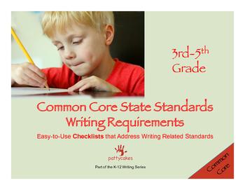 3-5 Common Core Writing Checklists - Writing & Language, m