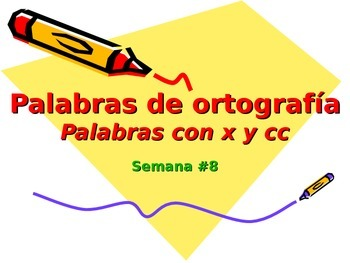 3-5th Grade Spanish Vocabulary - Week 8