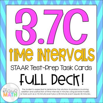 3.7C: Time Intervals STAAR Test-Prep Task Cards (GRADE 3)