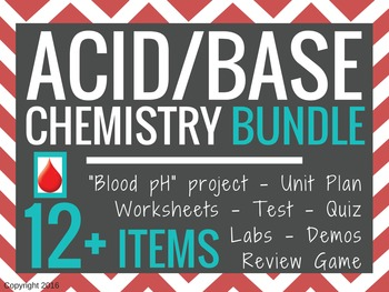 Acid Base pH Chemistry BUNDLE (save 20%)
