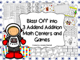 3 Addend Math Centers and Games