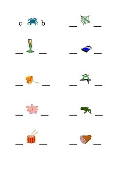 #3 Alphabet Write Beginning and Ending Consonants Pictures