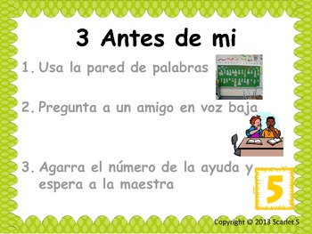 3 Antes de Mi Spanish Chart