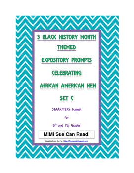3 Black History Month (Male) Expository Writing Prompts ST