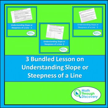 3 Bundled Lesson on Understanding Slope or Steepness of a Line