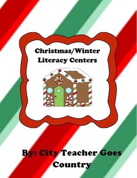 3 Christmas/Winter Literacy Centers - 3rd grade