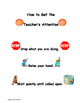 3 Classroom Management Posters with Pictures