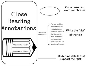 3 Close Reading Annotation Marks