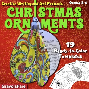 3-D CHRISTMAS ORNAMENTS: 19 Circlebook Templates for Creat