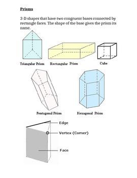 3-D Geometry - Notebook Resource