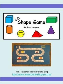 3-D Shape Game