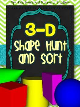 3-D Shape Hunt and Sort