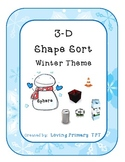 3-D Shape Sort - Winter Theme