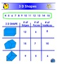 3 D Shapes - Faces, Edges, Vertices