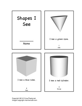 3-D Shapes Mini Book in English and Spanish!