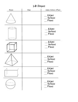 3-D Shapes Notes