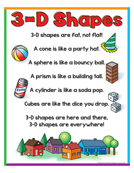 """3-D Shapes Poem- 8½"""" x 11"""""""