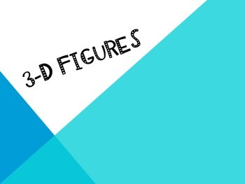 3-D Shapes Powerpoint