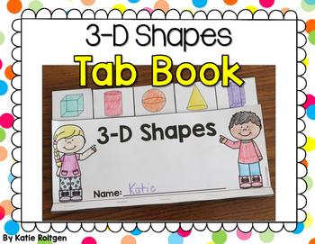3-D Shapes Tab Book