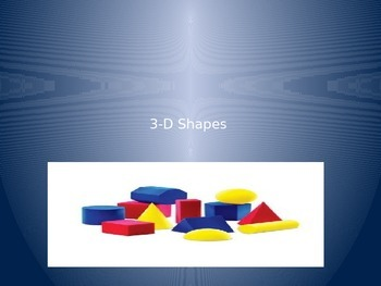 3-D Shapes-With Spiral Review of Other Math Concepts