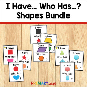3-D and 2-D Shapes: I Have... Who Has...? (BUNDLE)