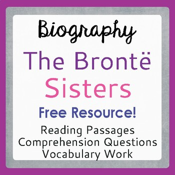 Bronte Sisters Warm-up Activities: 3 Days with the Bronte Sisters