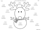3 Digit Addition Christmas Theme FREEBIE