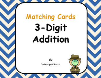 3-Digit Addition Matching Cards