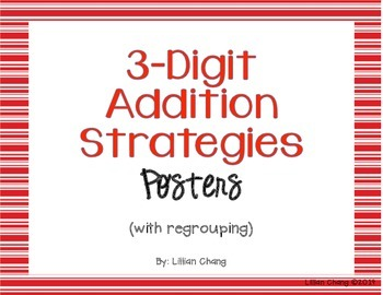 3-Digit Addition Strategies Posters (with... by Simple in Second ...