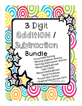3 Digit Addition and Subtraction Pack