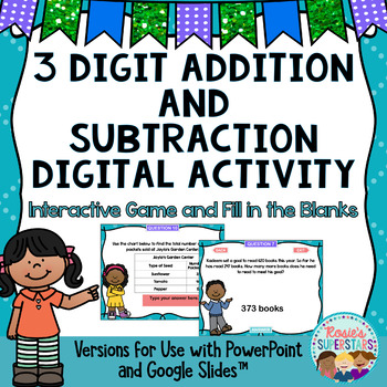 3 Digit Addition and Subtraction with Regrouping PowerPoint Game