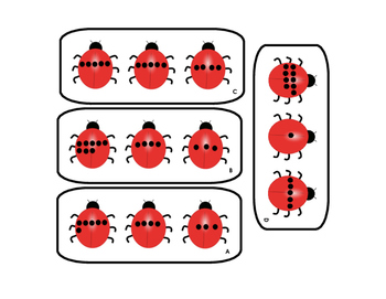 3 Digit Addition with Ladybugs