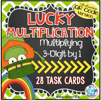 3-Digit Multiplication  QR Code Task Cards