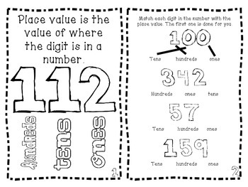 3 Digit Place Value Activity Booklet