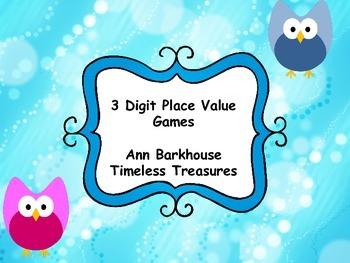 3 Digit Place Value Games