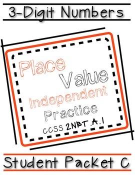 3 Digit Place Value Packet C