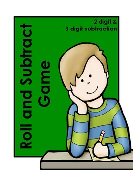 3 Digit Subtraction Dice Game