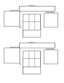 3 Digit Subtraction Graphic Organizer