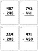 3 Digit Subtraction Task Cards (No Regrouping) *Comes With