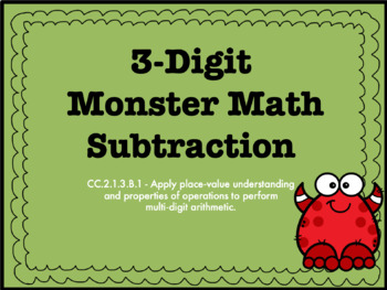 3-Digit Subtraction With and Without Regrouping PowerPoint