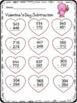 3 Digit Addition & Subtraction worksheet Valentine's Day Theme