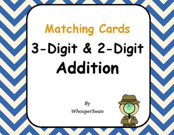 3-Digit and 2-Digit Addition Matching Cards