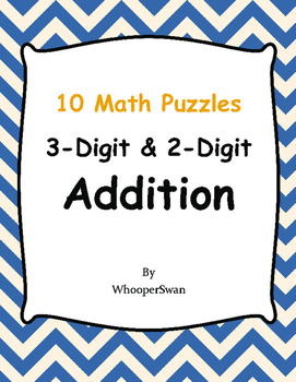 3-Digit and 2-Digit Addition Puzzles