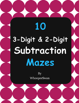 3-Digit and 2-Digit Subtraction Maze