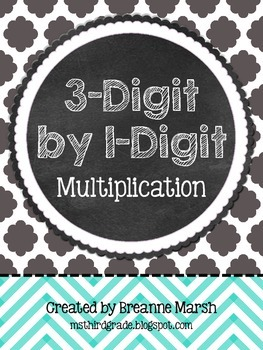 3-Digit by 1-Digit Multiplication